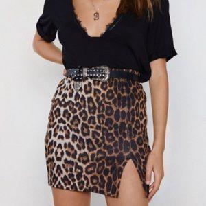Brand new cheetah print skirt
